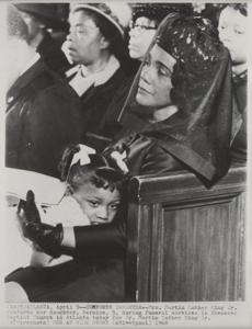 Coretta Scott King at MLK's funeral.
